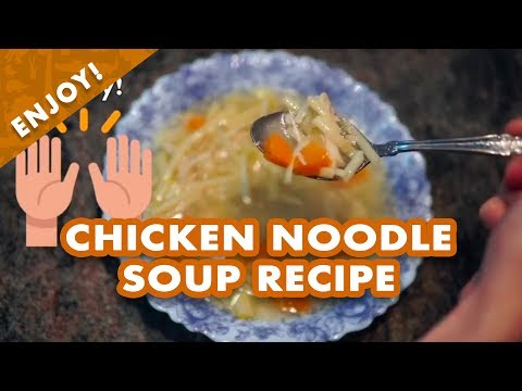 Easy Homemade Chicken Noodle Soup Recipe for When You Are Sick | Little Hands and Feet