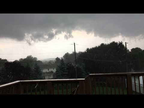Storm / Tornado Warning passing Northeast Bethlehem, PA (video #3)