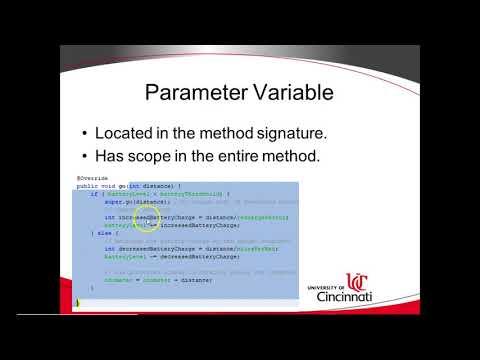 Block, Scope, Attribute, Parameter, Local Variable in Java