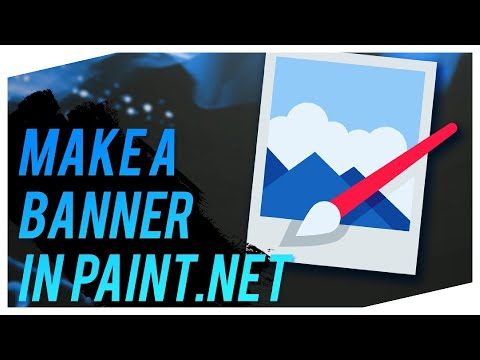 How to make a YouTube Banner with paint.NET 2016-2017