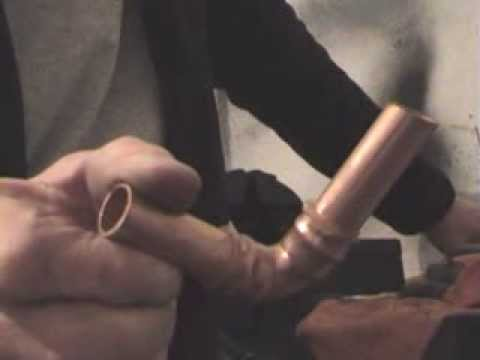 How to solder copper pipe at home without special equipment.