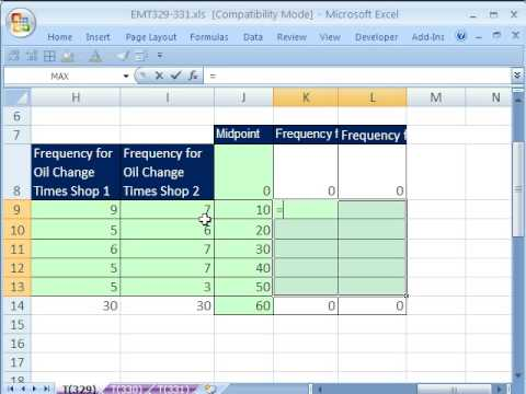 Excel Magic Trick 329: Frequency Polygon With 2 Or More Line