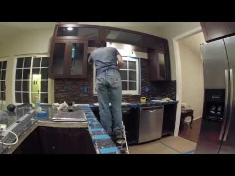 Kitchen Remodeling - Day 15 of 17 - Toilet Install, Trim Work, Backsplash Installation, Counter Edge