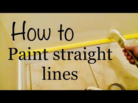 How to Paint straight line on Trim