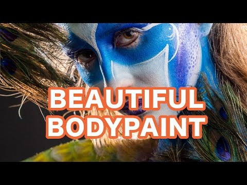 Editing Beautiful Peacock Bodypaint Portrait (Recorded Live)