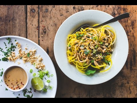 How to Make: Golden Beet Noodles with Spicy Peanut Sauce