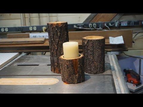 Littlewierdshop, Log Candle Holders