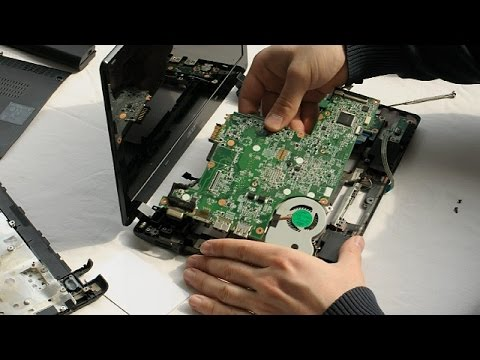 Acer Aspire One 725 Laptop Disassembly video, take a part, how to open