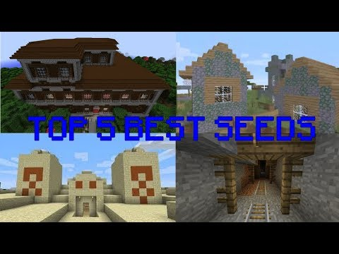 Minecraft : TOP 5 SEEDS 2018   PS3/PS4/XBOX360   Manoir, Temple, Village mort (Graine de génération)