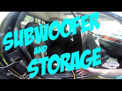 2009 GMC Sierra 2500HD -  DIY - Building a Subwoofer Box and Storage Under the Rear Seat