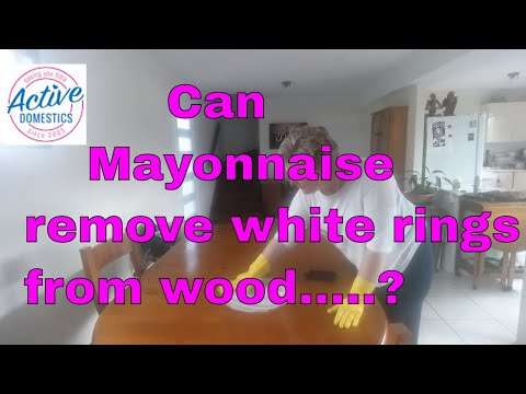 Does mayonnaise remove white rings from wooden tables?
