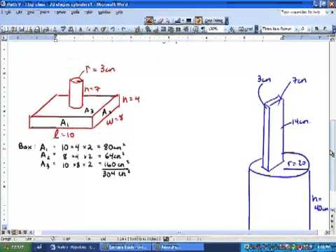 Math 9 - 1.3 - Surface Area of Cylinders