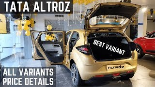 Tata ALTROZ All Variants PRICE Details Review - 2020 Tata Altroz Price, Features, Interior | Altroz