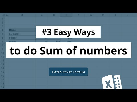 Sum formula in Excel | Autosum in Excel | Excel in Hindi