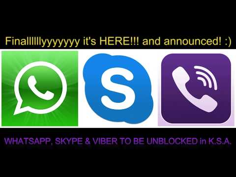 VIBER SKYPE AND WHATSAPP CALLING NOW UNBLOCKED IN SAUDI ARABIA!!!! PROOF!! 100% REAL