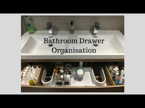 Bathroom drawer Organisation