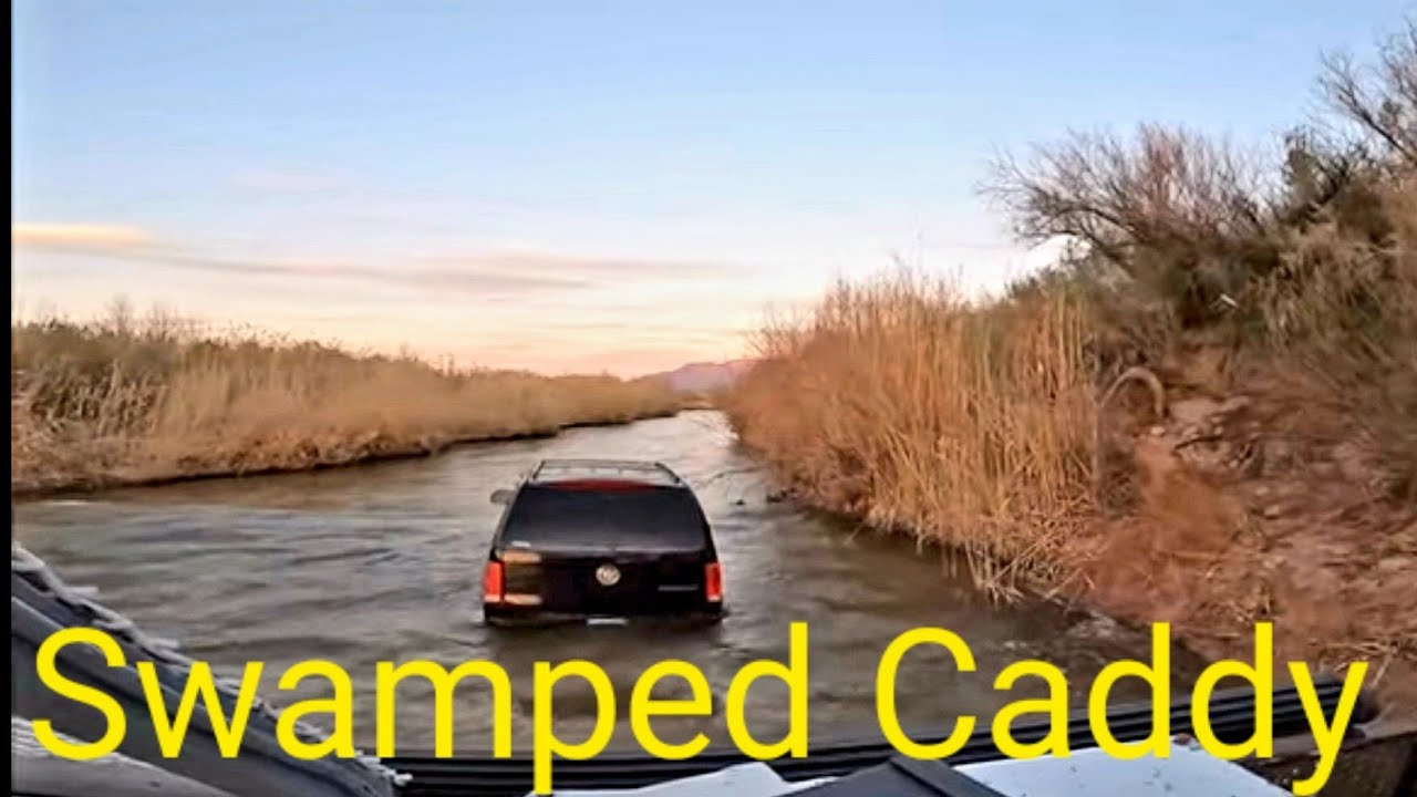 Cadillac Escalade Stuck in the River Nodwell to the Rescue