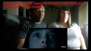 "STRANGER THINGS (SEASON 2 COMIC-CON TRAILER ""THRILLER"" - REACTION!!!!"