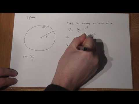 Spheres: Volume and Expressions for the Volume: Algebra