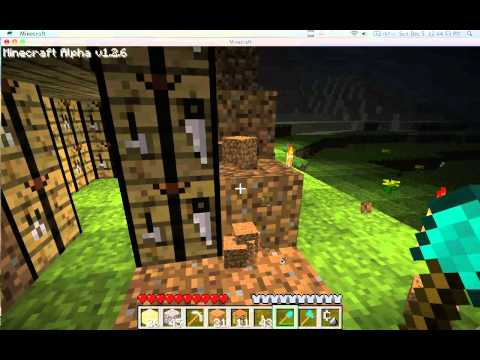 Minecraft crafiting bench house