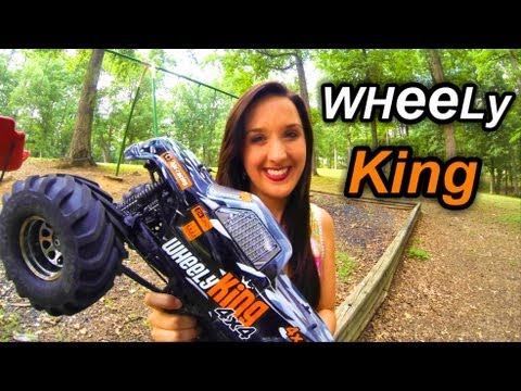 Wheely King Bashing - Awesome HPI 4x4 RC Monster Truck