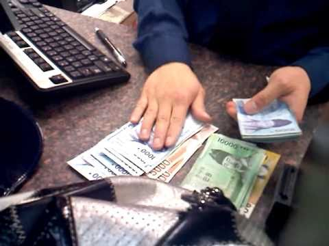 Currency Exchange at the Bank