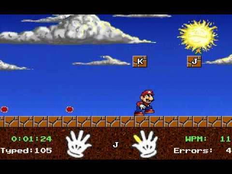 Mario Teaches Typing - Game Play