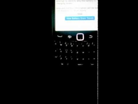 How to view battery drain trends on your blackberry
