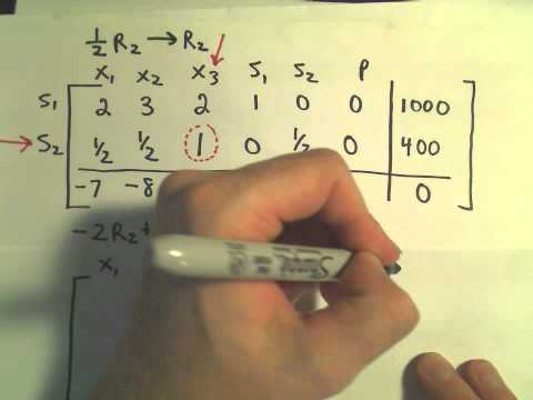 The Simplex Method - Finding a Maximum / Word Problem Example, Part 3 of 5