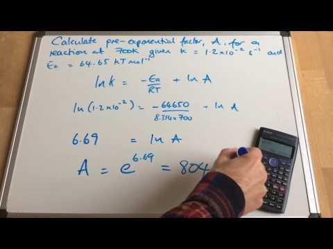Arrhenius Calculations