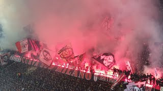 Ac Milan Fans Shaking The San Siro In The Milano Derby
