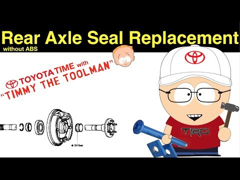 Toyota Rear Axle Seal/Bearing Replacement (Non-ABS Rearend)