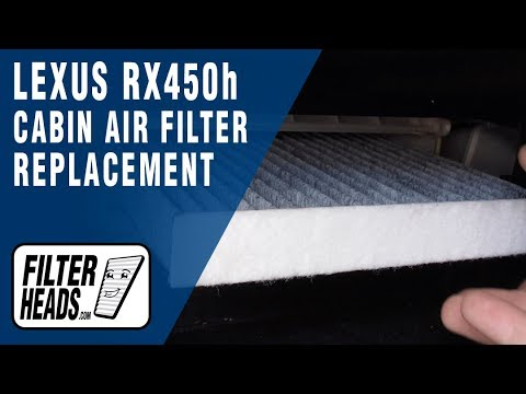 How to Replace Cabin Air Filter 2011 Lexus RX450h