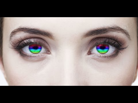 How to create rainbow effect of eyes in photoshop
