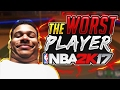I ALMOST KILLED MYSELF PLAYING WITH THE WORST PLAYER ON NBA 2K17 COMPLETE 💩💩💩💩 RIP HEADPHONES