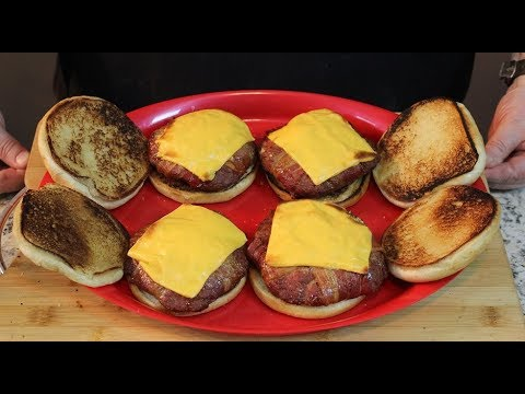 Bacon Wrapped Venison Cheeseburgers!  (In the Smoker)
