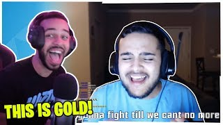 """HAMLINZ REACTS TO THIS GUYS FORTNITE VERSION OF """"OLD TOWN ROAD""""! *FUNNY*"""