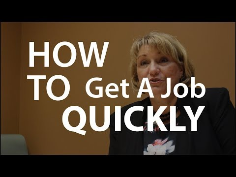 How to Get a Job Quickly