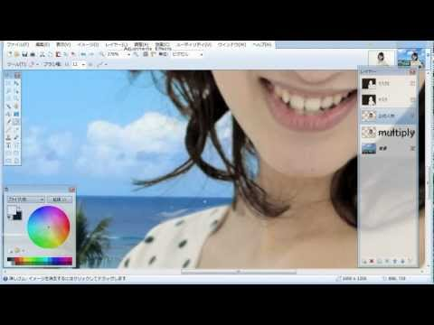 How to collage for hair【Paint.net】