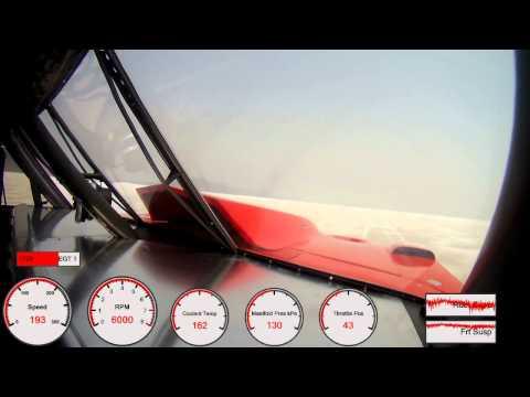 Car #97 Speedweek 2012 record qualification pass