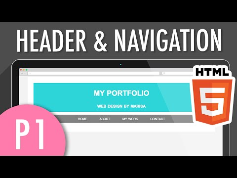 HTML5 Header & Horizontal Navigation Menu (PART 1) | XO PIXEL