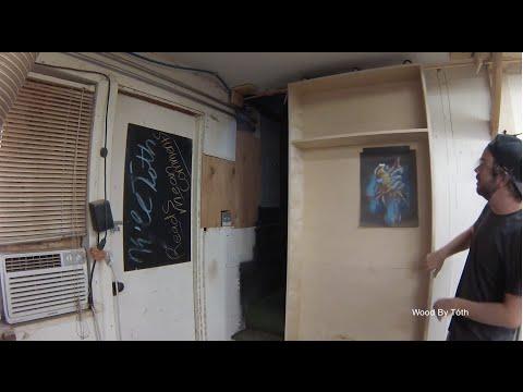 Secret Door // Rolling Shop Bookcase & Clamp Rack