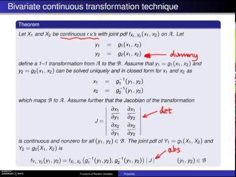 Transformation technique for bivariate continuous random variables