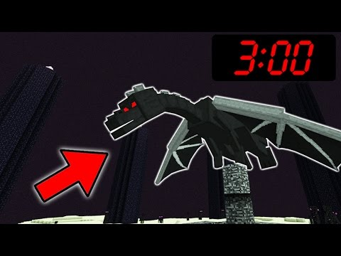 Do NOT Fight the ENDER DRAGON in Minecraft Pocket Edition at 3:00 AM!!!