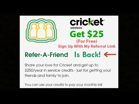Cricket Wireless - Refer A Friend Program Is Back! Get A $25 Credit For Joining!!