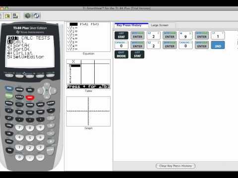 How to sort data from smallest to largest using a TI-84