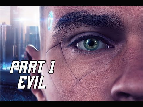 DETROIT BECOME HUMAN EVIL Walkthrough Part 1 - INTRO (PS4 Pro 4K Let's Play)