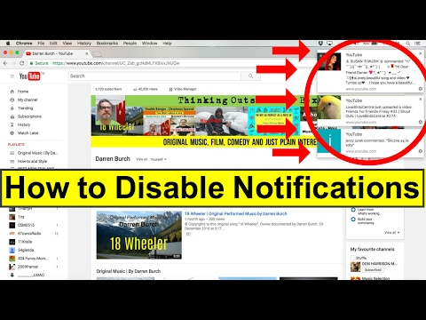 How to Disable Notifications on YouTube and Settings