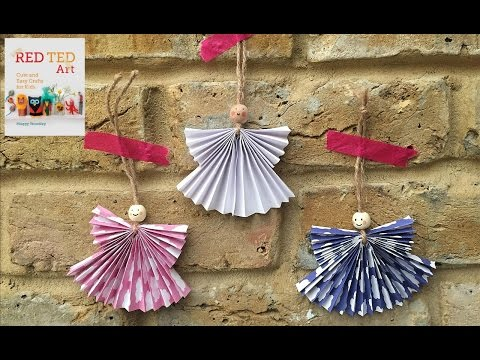 Christmas Crafts - Concertina Paper Angels (Weihnachts Engel)