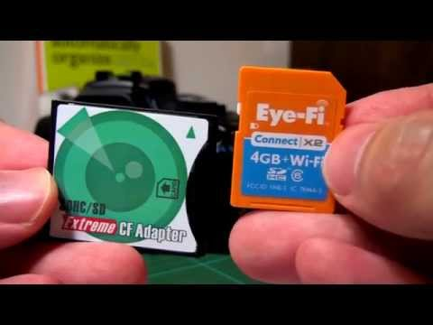 Stop buying CF cards! Eye-Fi compatible SD to CF adaptor